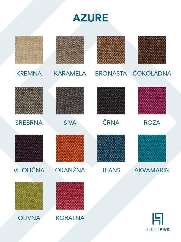 Azure barvna karta - Pisarniški stoli PIVK
