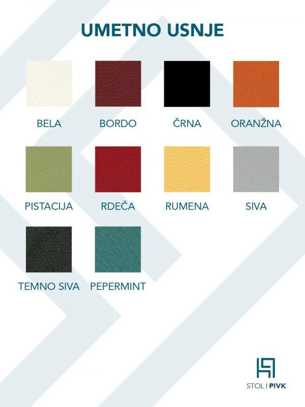 Barvna karta za umetno usnje