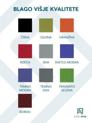 Barvna karta za blago višje kvalitete