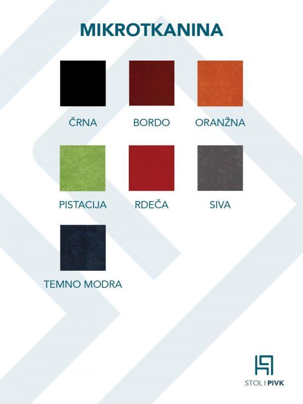 Barvna karta za mikrotkanino