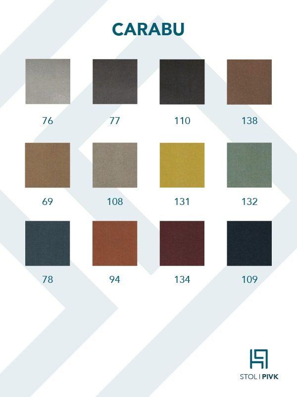 Carabu barvna karta - Pisarniški stoli PIVK